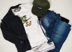 Outfit Chaqueta Negra Jean