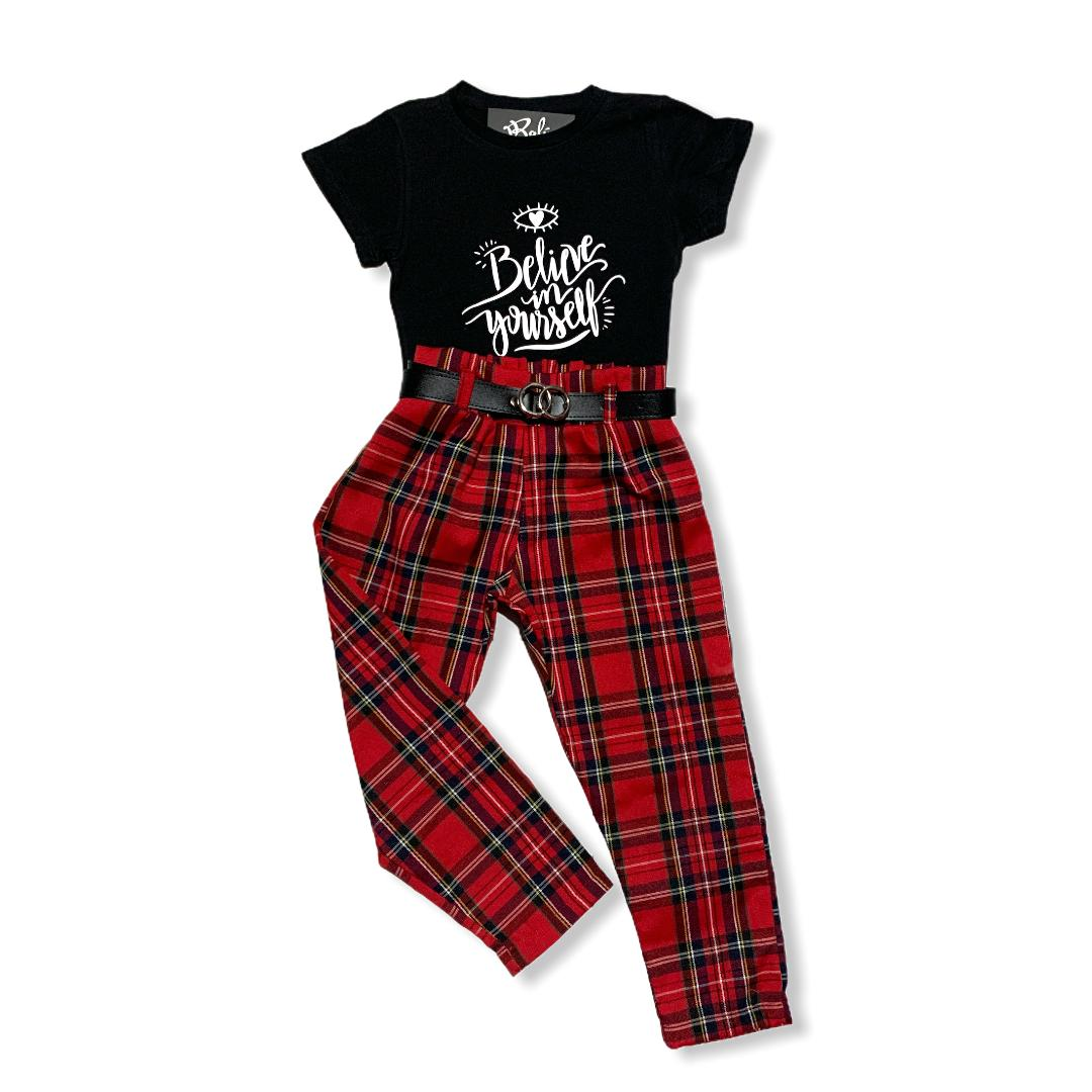 outfit red punk